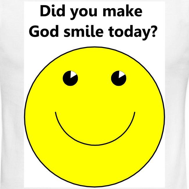 Smiley face for God t-shirt | Men's Ringer T-Shirt