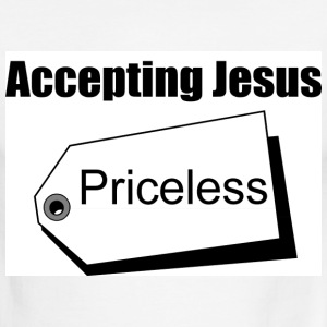 Accepting Jesus (Priceless) - Men's Ringer T-Shirt