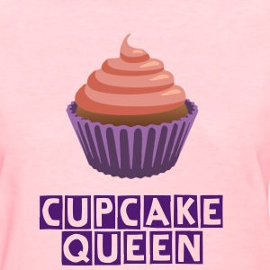 Pink and Purple Cute Cupcake Queen T-Shirt - Women's T-Shirt
