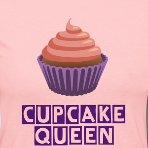 Pink and Purple Cute Cupcake Queen Long Sleeve T-Shirt - Women's Long Sleeve Jersey T-Shirt