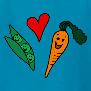 Peas Love Carrots Cute Vegetarian Vegetable Kid's T-Shirt - Kids' T-Shirt