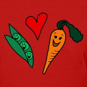 Peas Love Carrots Cute Vegetarian Vegetable T-Shirt - Women's T-Shirt