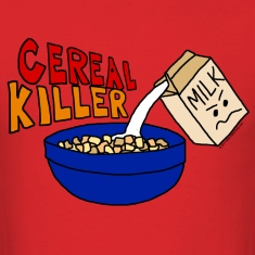 Funny Cereal Killer Cartoon Unisex T-Shirt