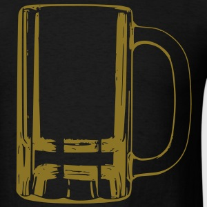 Giant Metallic Gold Beer Mug T-Shirt - Men's T-Shirt