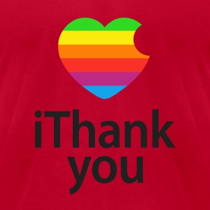 iThank You Steve T-Shirts - Men's T-Shirt by American Apparel