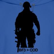 Design ~ Mens Hoodie : BF3  COD