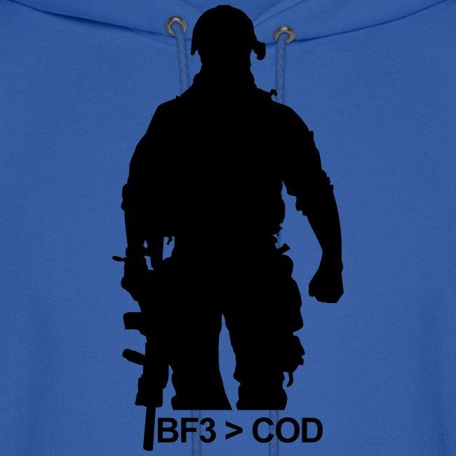 Mens Hoodie : BF3  COD