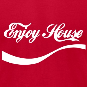 enjoy House Music T-Shirts - Men's T-Shirt by American Apparel