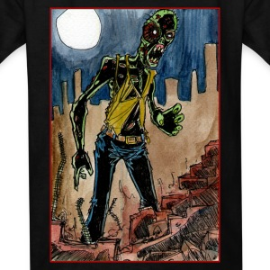 zombie in the ruins Kids' Shirts - Kids' T-Shirt