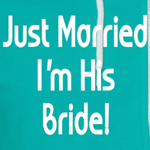 just_married_his_bride Zip Hoodies/Jackets - Unisex Fleece Zip Hoodie by American Apparel