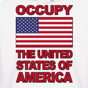 Occupy The United States of America Hoodies - Men's Hoodie