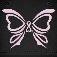 Design ~ Pink Ribbon Butterfly Baseball Cap