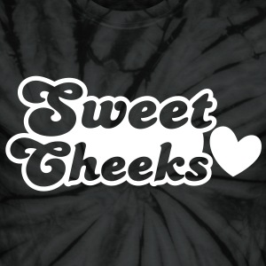 sweet cheeks with cute little love heart T-Shirts - Unisex Tie Dye T-Shirt