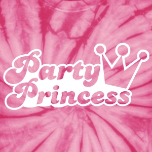 party princess with cute crown  T-Shirts - Unisex Tie Dye T-Shirt