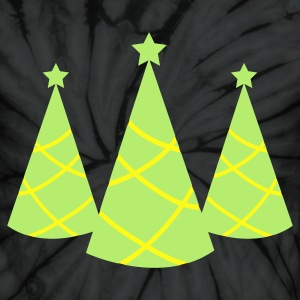 Christmas tree pointy with star three T-Shirts - Unisex Tie Dye T-Shirt
