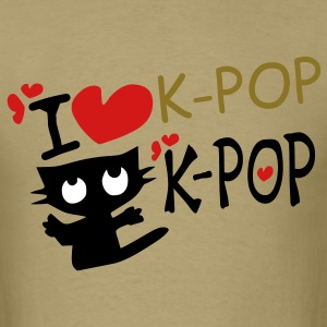 I love k-pop txt kitty cat vector art Men's Standard Weight T-Shirt - Men's T-Shirt