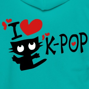 I love k-pop txt kitty cat vector art Unisex Fleece Zip Hoodie by American Apparel - Unisex Fleece Zip Hoodie by American Apparel
