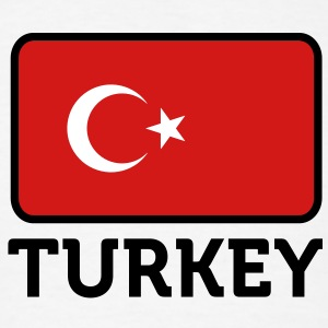 Flag Turkey 2 (3c)++ T-Shirts - Men's T-Shirt