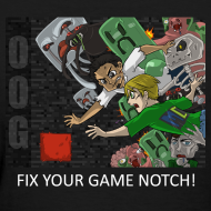 Design ~ FIX YOUR GAME! - Anime Black Standard Weight Womens