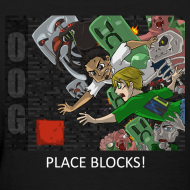 Design ~ PLACE BLOCKS! - Anime Black Standard Weight Womens