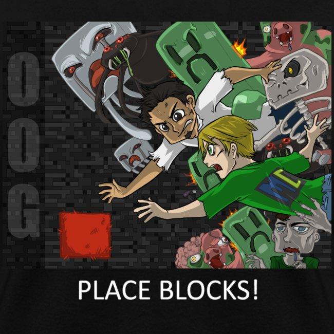 PLACE BLOCKS! - Anime Black Standard Weight Womens