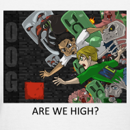 Design ~ ARE WE HIGH? - Anime White Standard Weight Womens