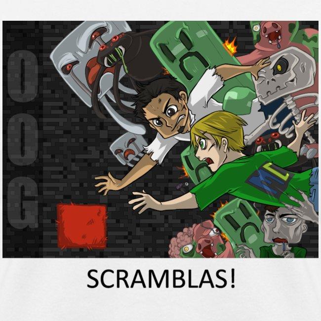 SCRAMBLAS! - Anime White Standard Weight Womens