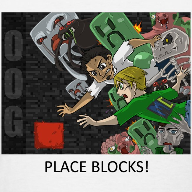 PLACE BLOCKS! - Anime White Standard Weight Womens