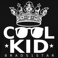 GIRLS Crowned Cool Kid Hoodie White