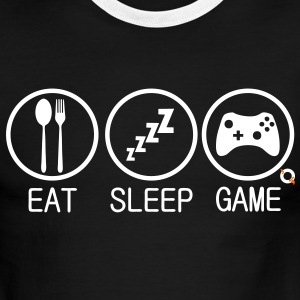EAT SLEEP GAME T-Shirts - Men's Ringer T-Shirt