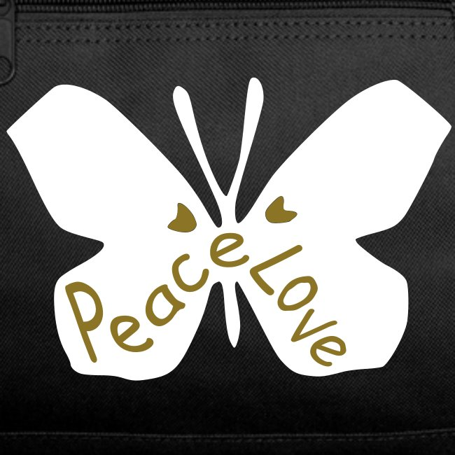 5bd0b84280c0 Love peace txt cool butterfly insect Duffel Bag