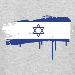 Israeli flag painted with a brush stroke Long Sleeve Shirts - Men's Long Sleeve T-Shirt by Next Level
