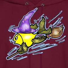 Wizard Fish - funny cute drawing
