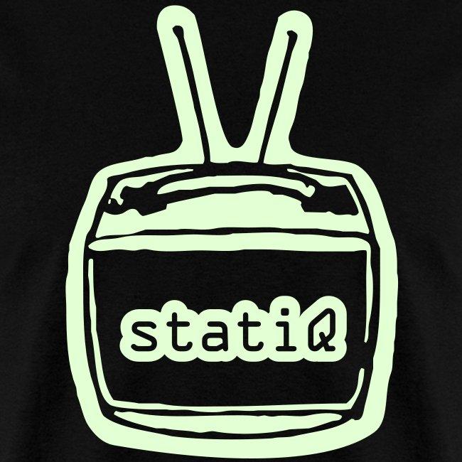 statiQ TV head GLOW-IN-THE-DARK $10 TSHIRT!!!