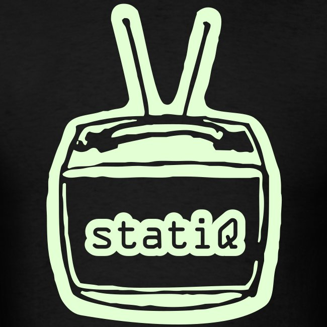 statiQ TV head GLOW-IN-THE-DARK $10 TSHIRT!!!