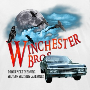 Winchester Bros Driver picks the music shotgun shu T-Shirts - Men's T-Shirt by American Apparel