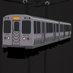 Orange Line Chicago L Train Hoodie
