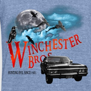Winchester Bros Hunting Evil Since 1983 1967 chevr T-Shirts - Unisex Tri-Blend T-Shirt by American Apparel