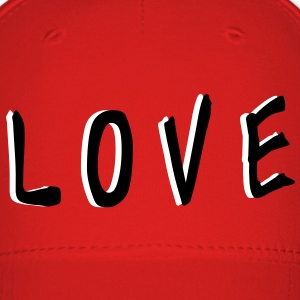 LOVE TXT vector graphic line art Baseball Cap - Baseball Cap