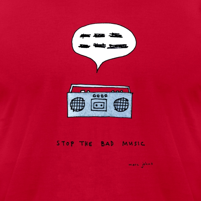 Stop the bad music - Men's white tee