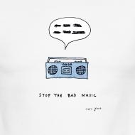 Design ~ Stop the bad music - Men's ringer tee