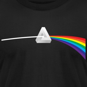 Dark Side Of Escher's Moon T-Shirts - Men's T-Shirt by American Apparel
