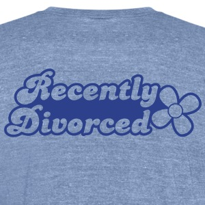 recently divorcee divorced T-Shirts - Unisex Tri-Blend T-Shirt by American Apparel