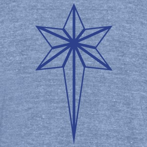 NORTH STAR outline T-Shirts - Unisex Tri-Blend T-Shirt by American Apparel
