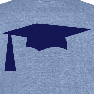 mortar pestle Graduation hat simple T-Shirts - Unisex Tri-Blend T-Shirt by American Apparel