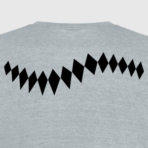 decorative diamonds in a row T-Shirts - Unisex Tri-Blend T-Shirt by American Apparel