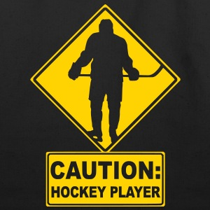 CAUTION: Hockey Player Bags  - Eco-Friendly Cotton Tote