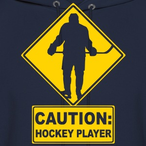 CAUTION: Hockey Player Hoodies - Men's Hoodie