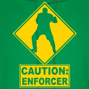 CAUTION: Hockey Enforcer Hoodies - Men's Hoodie