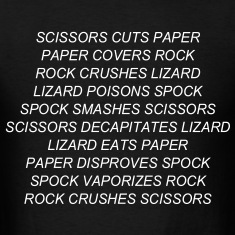 ROCK PAPER SCISSORS LIZARD SPOCK T-Shirts